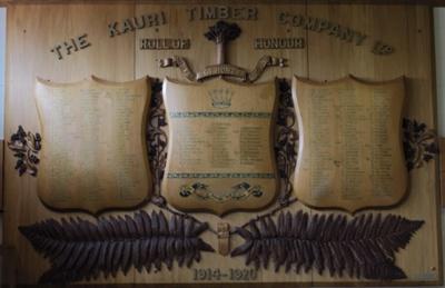 Roll of Honour Kauri Timber Company 1914-1920; Harold Vivain Ward; 1918; 1984_16_1-2