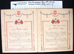 Commemorative Certificates WW1; Peace Celebrations Committee; 1919; 1996_147_1-2