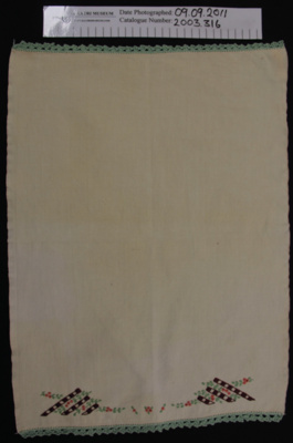 Hand towel; Unknown; c.1930's; 2003_316
