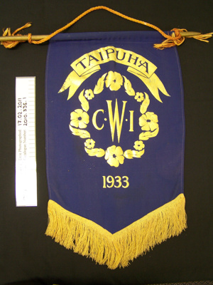 Banner, Taipuha CWI; Unknown; Unknown; 2010_335_1