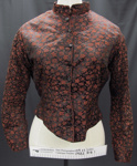 Black and red bodice late 19th Century; Unknown; late 19th Century; 1982_818_1