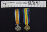 WW1 Medals; 1919; 2001_342_1-2