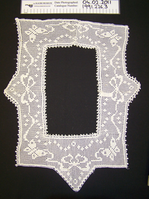 Crocheted yoke; Unknown; Unknown; 1991_226_3