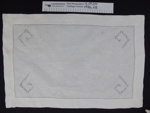 Linen tray cloth; Unknown; Unknown; 1986_68