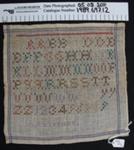 Needlework sampler; AL Vikinga; Unknown; 1989_697_12
