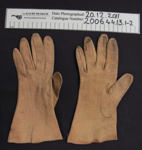 Brown leather gloves; Unknown; mid 20th Century; 2006_44_13_1-2