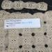 crochet ecru runner (unfinished) ; unknown; 2016.47.2.2