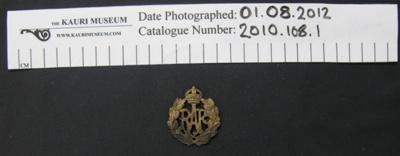 RAF badge; RAF; 1918-; 2010_108_1