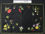 Black tray cloth; Unknown; Unknown; 2004_431