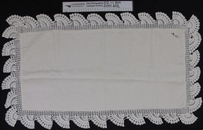 Tray cloth; Unknown; Unknown; 2001_602
