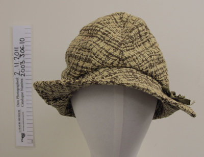 Woven wool ladies cap; Unknown; mid 20th Century; 2003_306_10