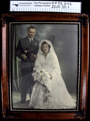 Military wedding photograph; c.1939-1945; 2010_30_1