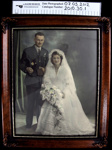 Military wedding photograph; c.1939-1945; 2010_30_1