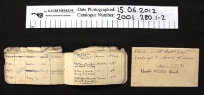 Notebook WW1; c.1914-1918; 2001_280_1-2