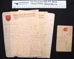 Letters WW1; George Sheppard; 1918; 2002_68_1-4