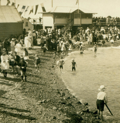 Friendly Bay, Oamaru Harbour in the early 1900s