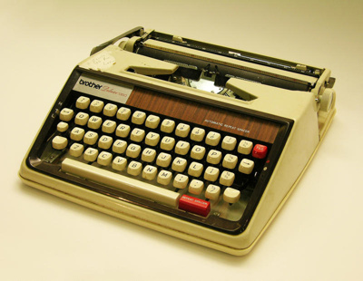 Typewriter used by Oamaru's most celebrated auth...