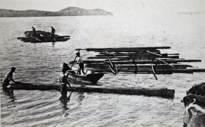 Rafting logs., TC7842