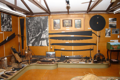 The timber milling section of the museum., TC7369