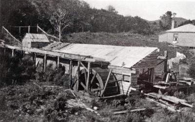 Bill Barr's mill and waterwheel., TC7832