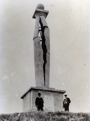 The Cornwallis Memorial after it had been struck by lightning., TC8639
