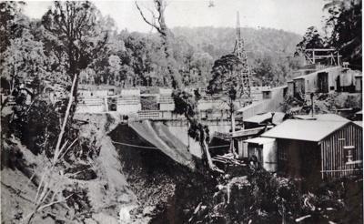 Top Huia dam construction., TC7873