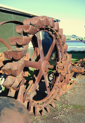 Pelton wheel - from early flax mill.