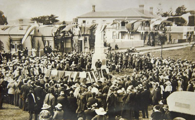 Unveiling of War Memorial.