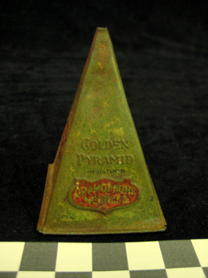 Tin of Gramophone Needles - Golden Pyramid brand...