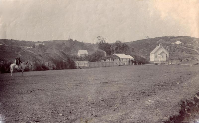 An early view of The Green, or Creek Street, which...