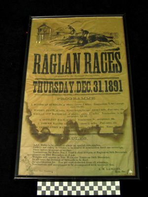 Framed Poster of the Raglan Races 1891