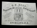 Business Card of T.B. Hill, 1880's, 1983.25.4