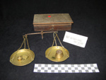 Gold Weighing Scales and Weights, 1893, 1968.4.3