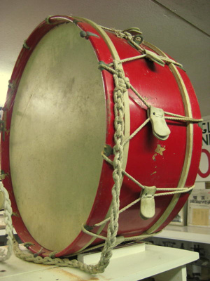 Large bass drum of the Raglan Caledonian Highland ...