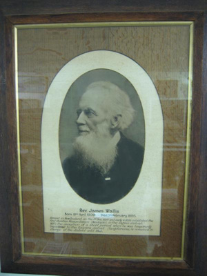 Framed photograph of the Rev. James Wallis.
