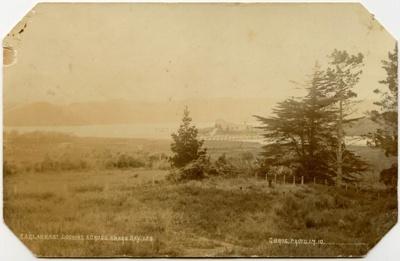 Postcard showsthe old bridge across the AroAro est...