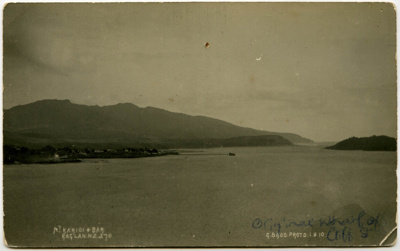Mt Karioi and Bar; Gilmour Brothers    Raglan NZ; 1910; X001.56.1