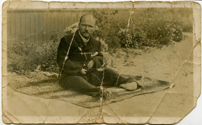 Photograph/postcard of Ernest Moon who was a bit o...