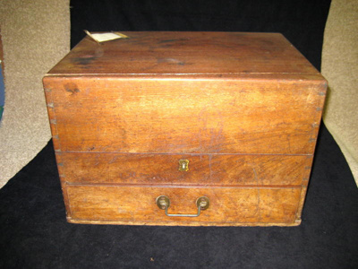 Large wooden Apothecary Chest with compartments fo...