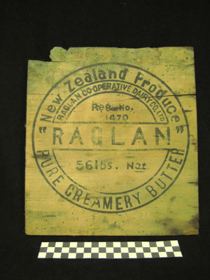 End of Raglan butter box with the Raglan Co-Operat...