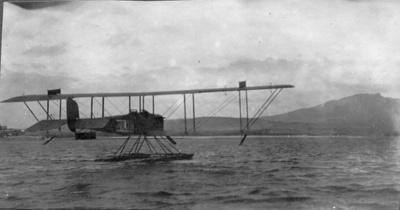 Royal Mail Seaplane in Raglan Harbour 1920; X001.61.1