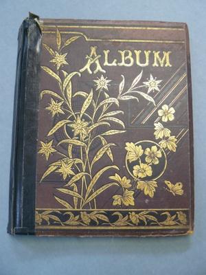 Scrap Album; c1880's; 2016.8.4