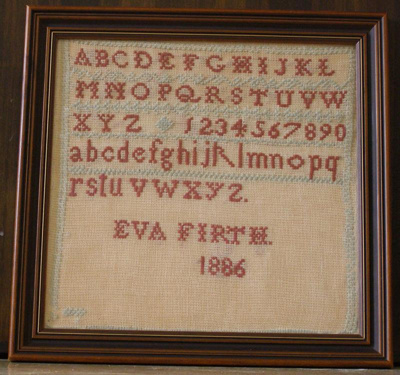 Eva Firth Sampler, Miss Firth, Eva, 1886, 37