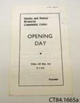 Programme [Owaka Memorial Community Centre]; Owaka Memorial Community Centre Committee; 1968; CT84.1665a