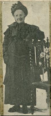 Newspaper clipping, Mrs Laura Rosina Berney, nee Logie.; Otago Daily Times; 1924; CT80.1204b