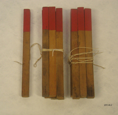 Grid- marker pegs, archaeological surveying equipment; 2013.8.2