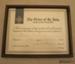 Certificate of appreciation [James Macalister Brown]; St John Ambulance Association; 1984; 2010.417.7.1