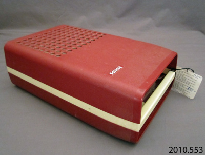 Record player, portable; Phillips; 1970s; 2010.553