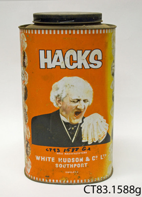Tin [Hacks]; White Hudson & Co Ltd; [?]; CT83.1588g