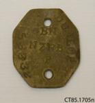 Tag, identity; [?]; 1914-1918; CT85.1705n